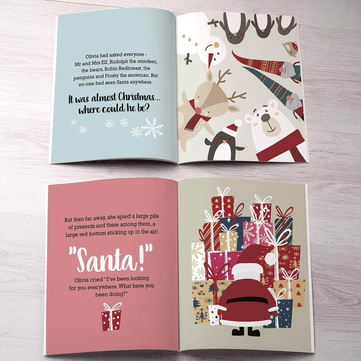 Letterfest book Personalised Search For Santa Book