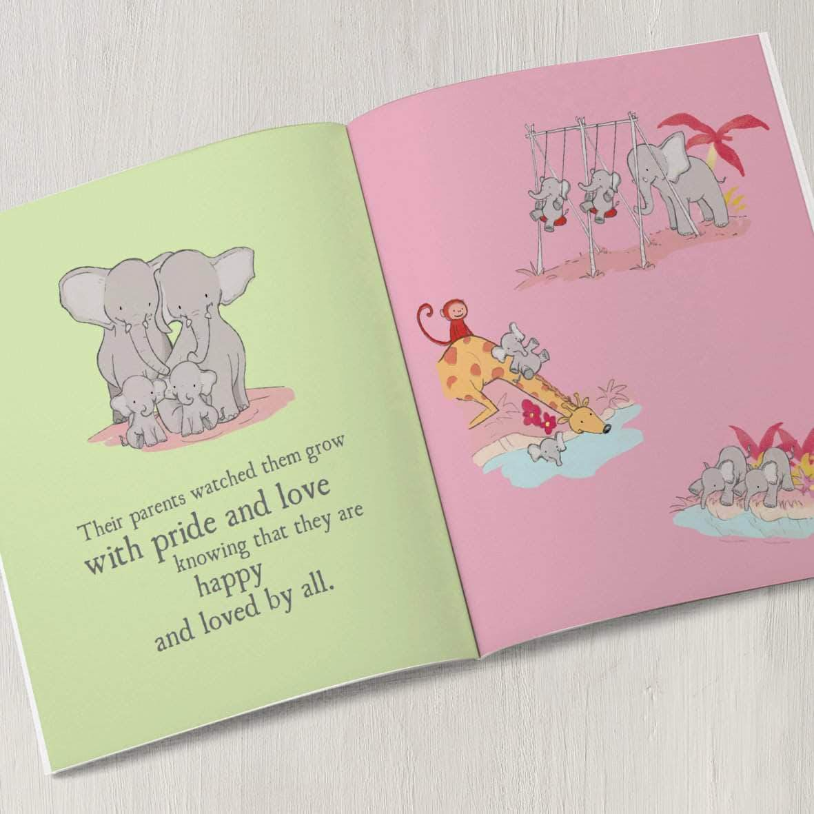 letterfest book Personalised Twins Story Book