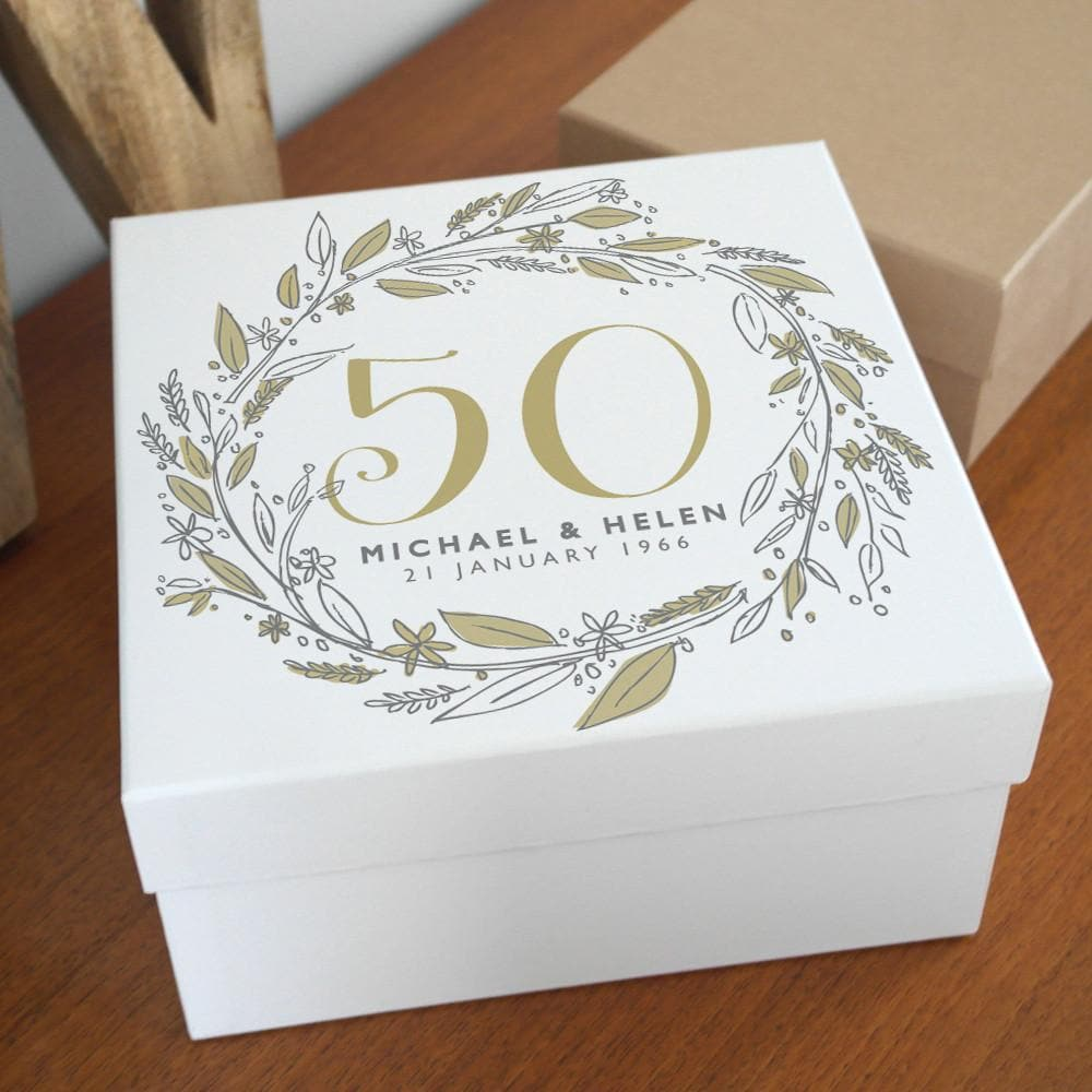letterfest box Personalised Anniversary Keepsake Gift Box