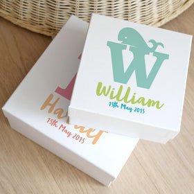 letterfest box Personalised Baby Animal Keepsake Box