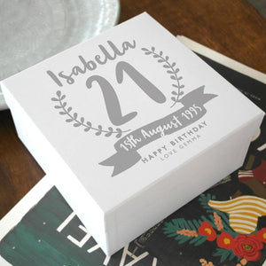 letterfest box Personalised Birthday Keepsake Gift Box