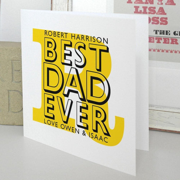letterfest card Best Dad Ever Personalised Card