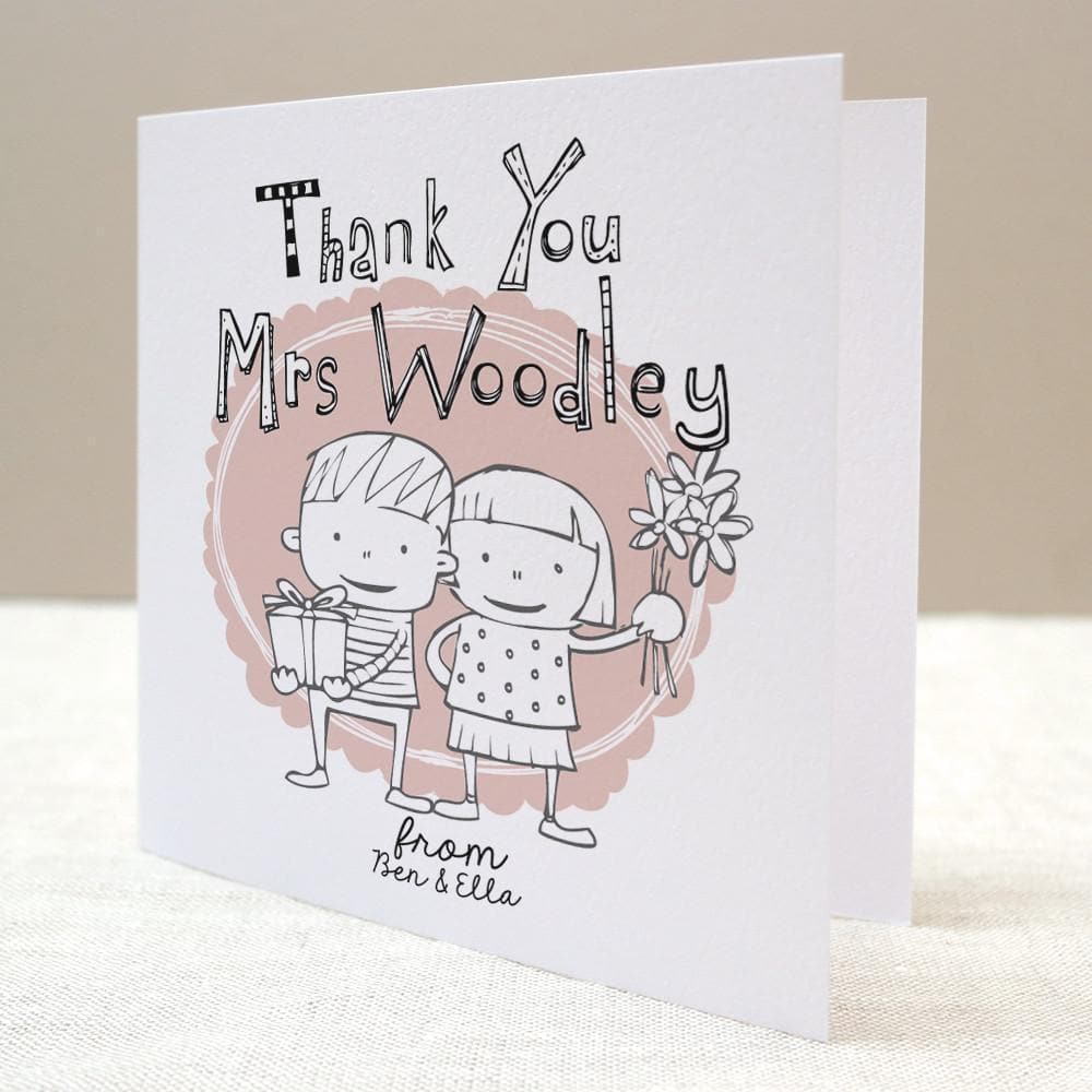 letterfest card Children's Personalised Teacher Card