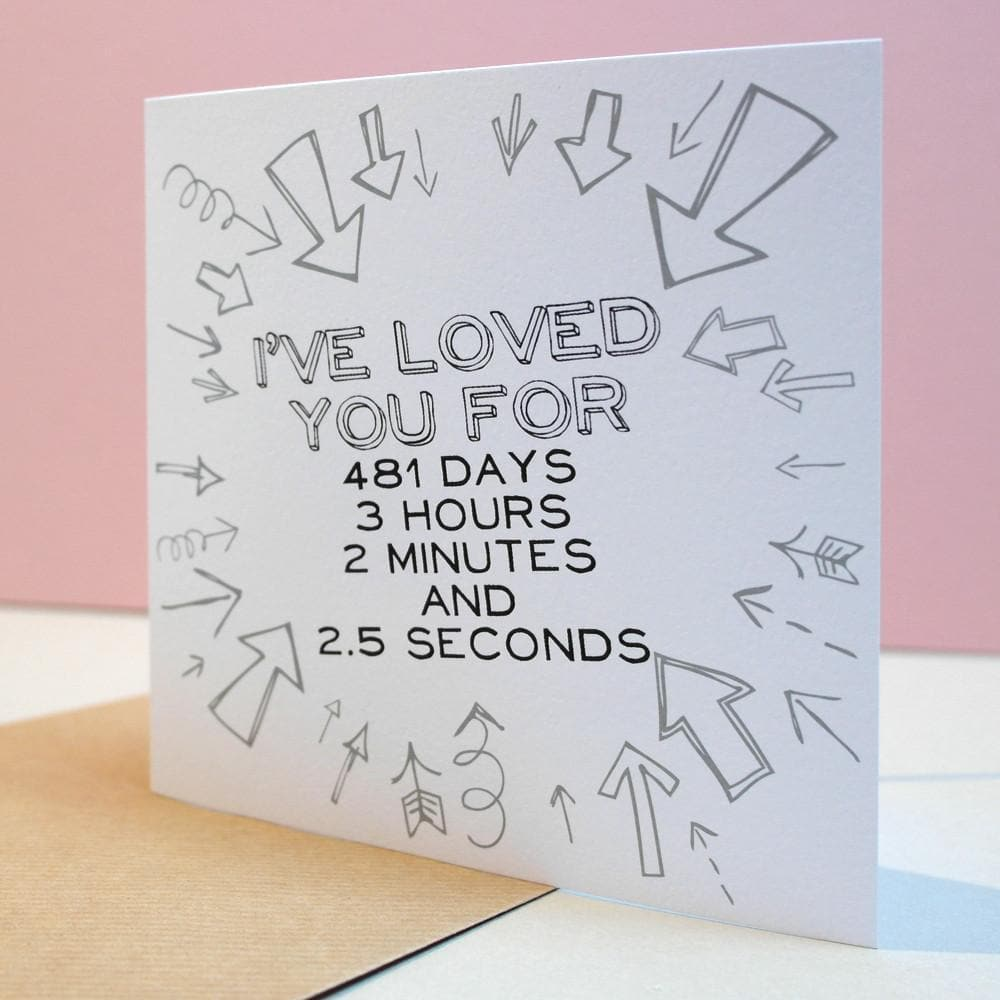 letterfest card I Have Loved You For... Personalised Card