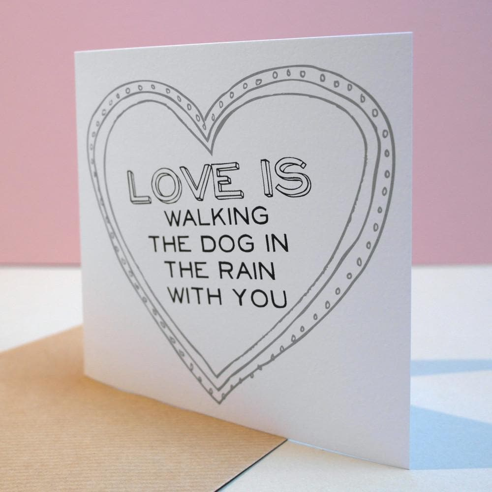 letterfest card Love is... Personalised Card
