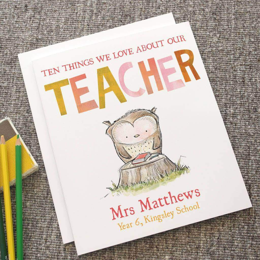 Letterfest.com book Reasons We Love Our Teacher Book