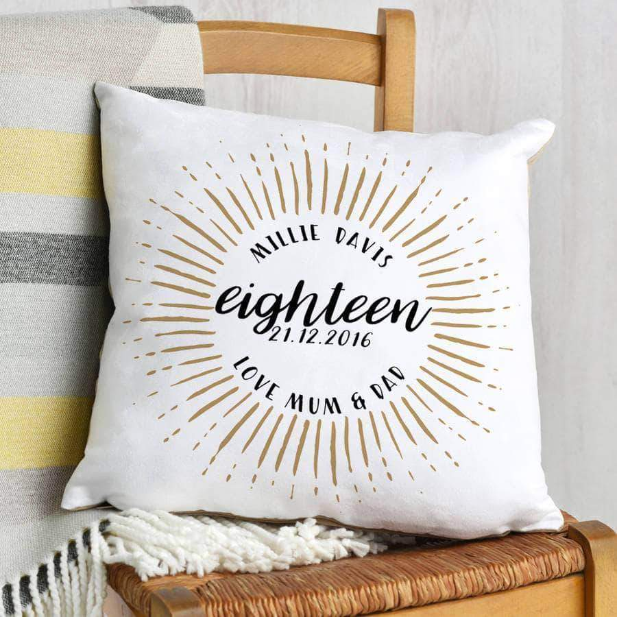 letterfest decor Eighteenth Birthday Celebration Cushion