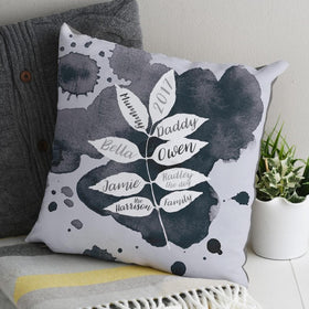 letterfest decor Graphic Family Tree Cushion