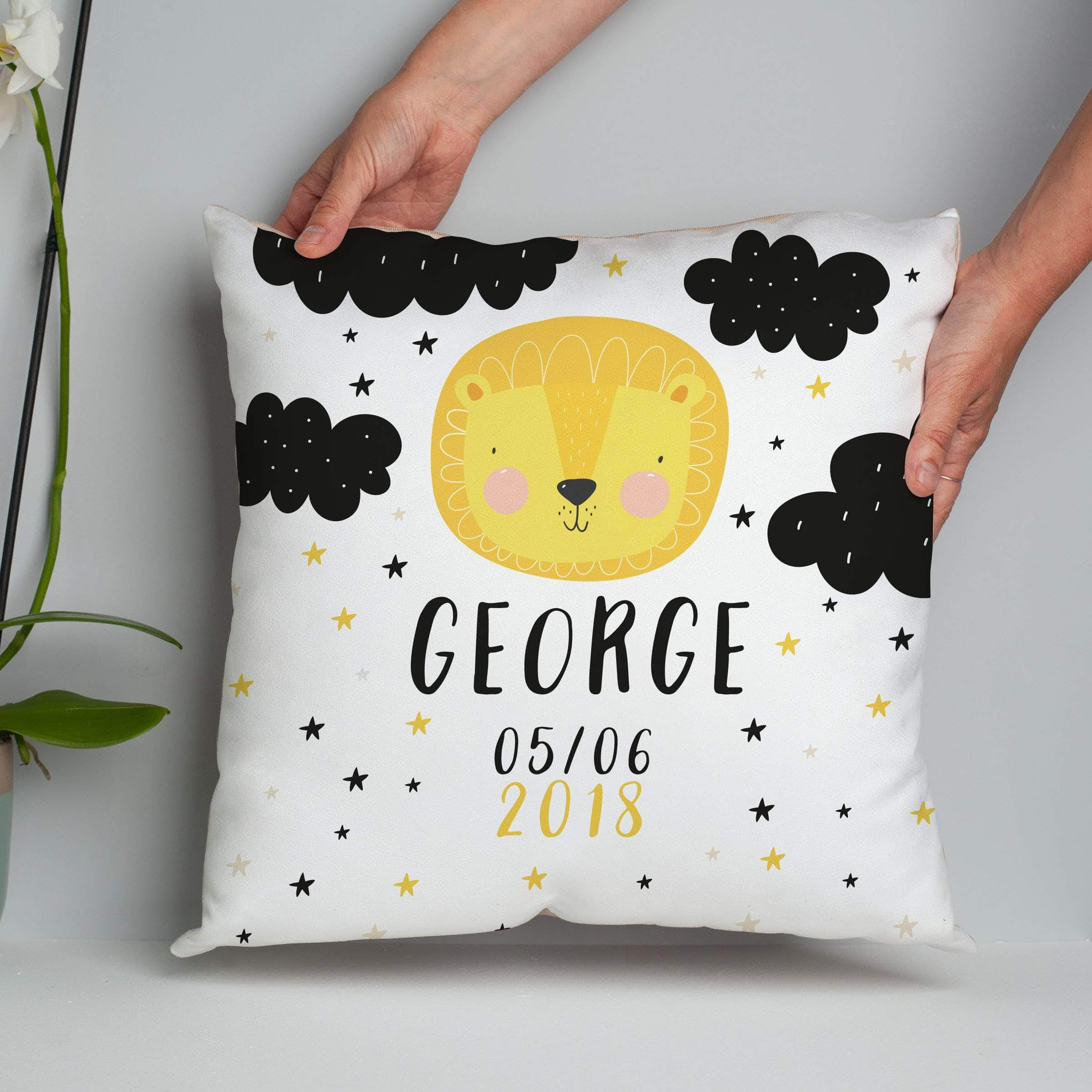 letterfest decor Personalised Black And White Animal Cushion
