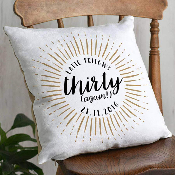 letterfest decor Personalised Calligraphy 40th Cushion