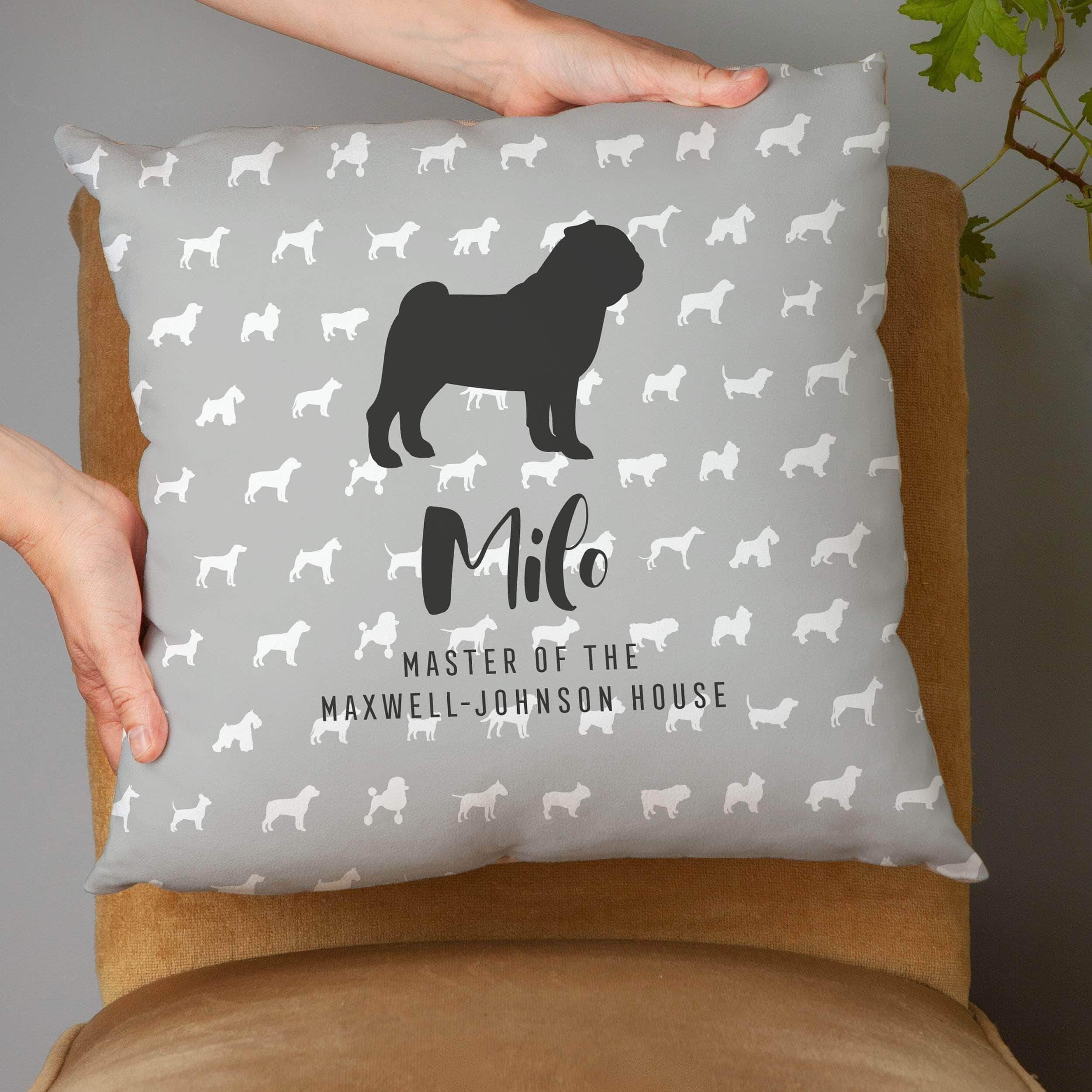letterfest decor Personalised Dog Cushion