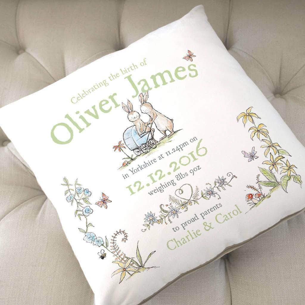 letterfest decor Personalised New Baby Animal Cushion