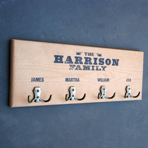 letterfest decor Personalised Wooden Coat Hook