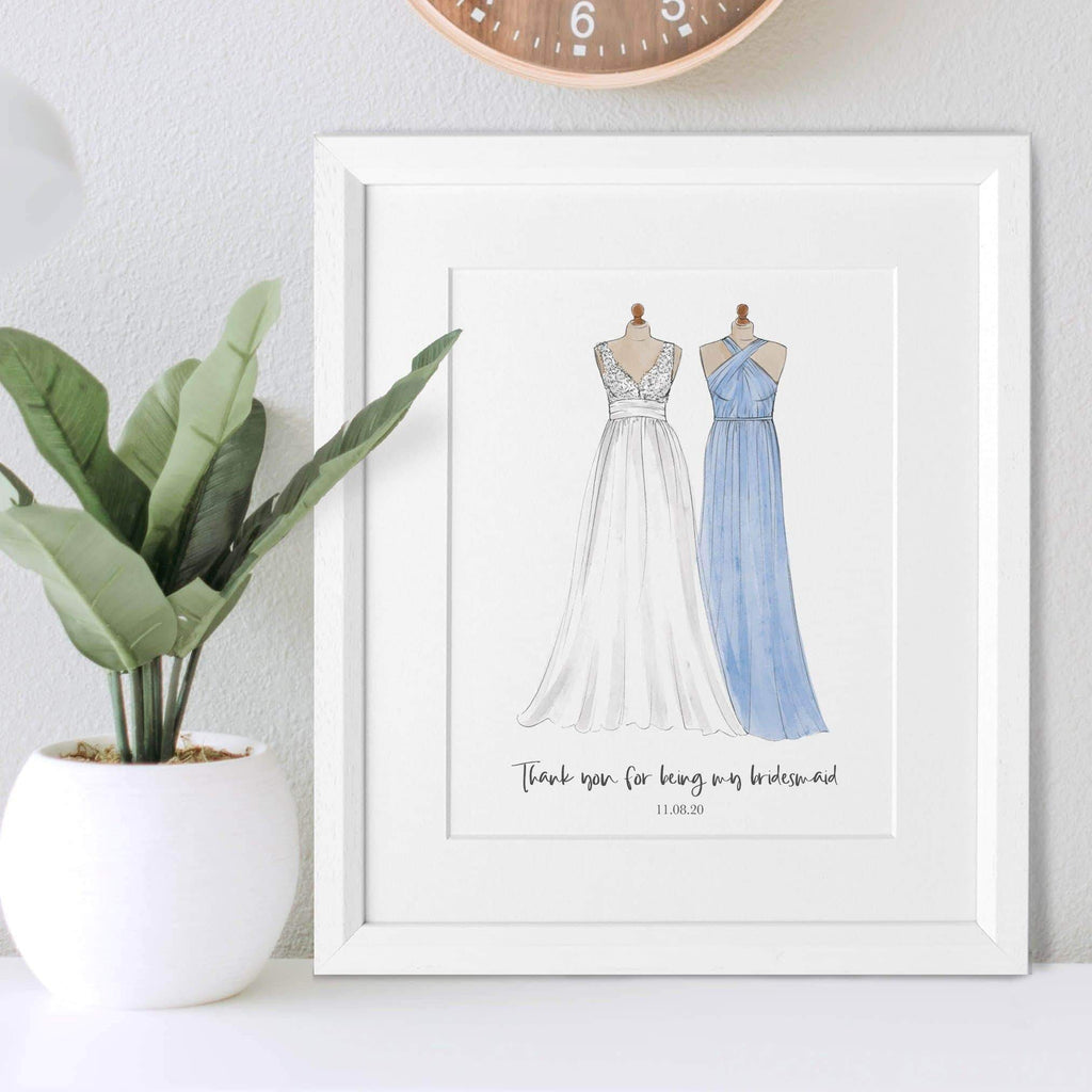 letterfest illustration Bridesmaid Or Special Dress Illustration