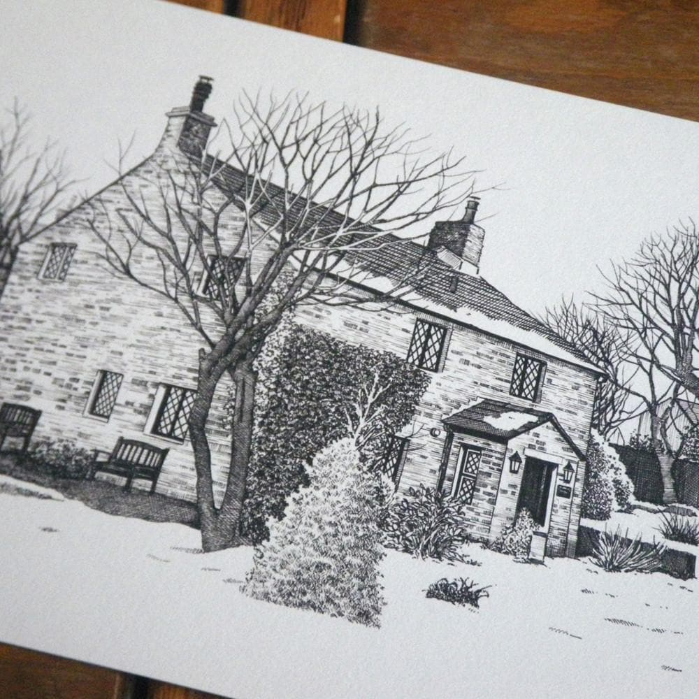 letterfest illustration Detailed House or Venue Illustration