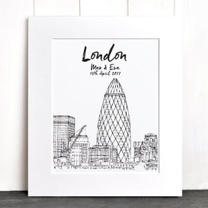 letterfest illustration Favourite City Print