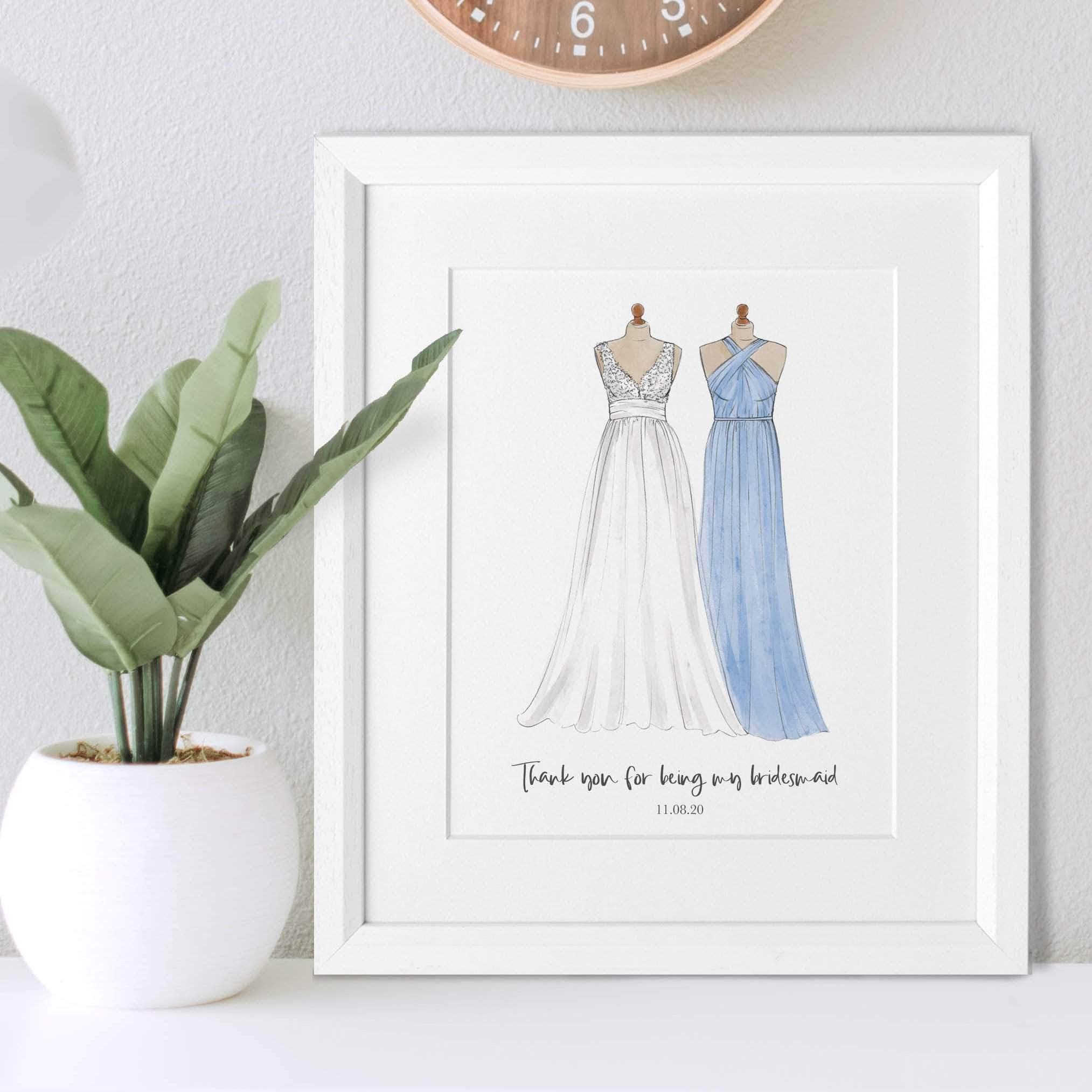letterfest illustration Mother Of The Bride Or Bridesmaid Illustration
