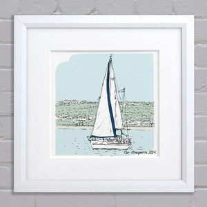 letterfest illustration Personalised Boat Illustration