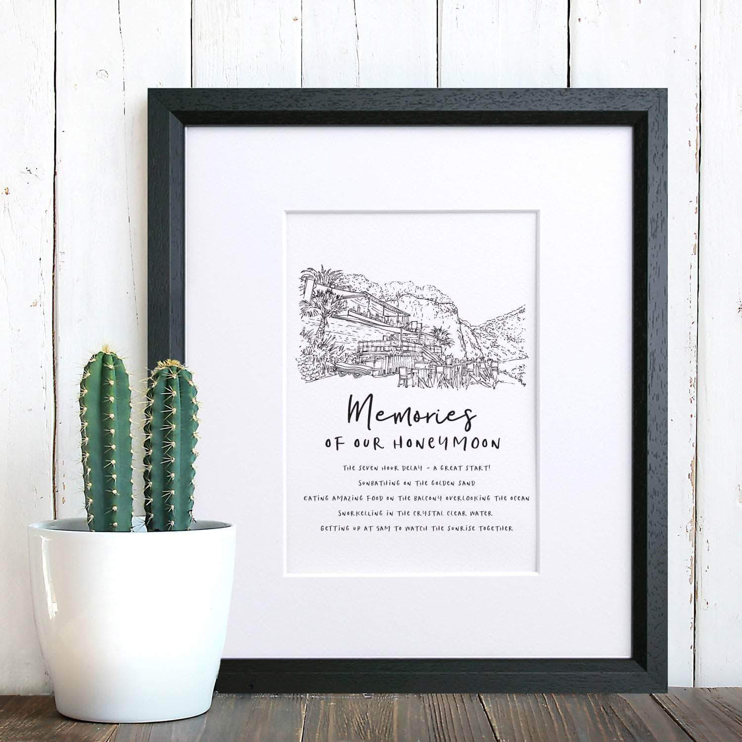 letterfest illustration Personalised Favourite Memory Illustration