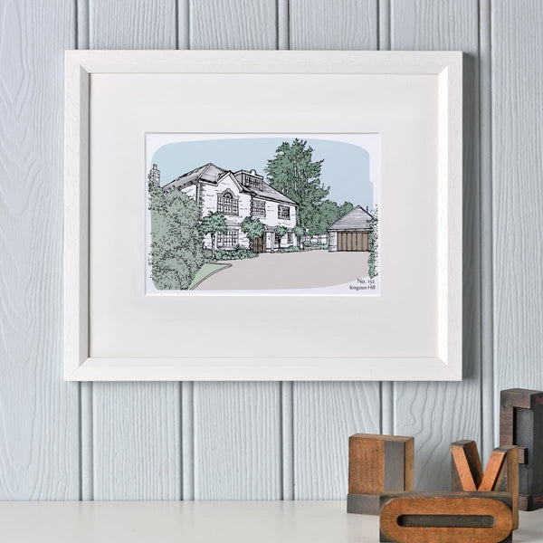 letterfest illustration Personalised House Portrait
