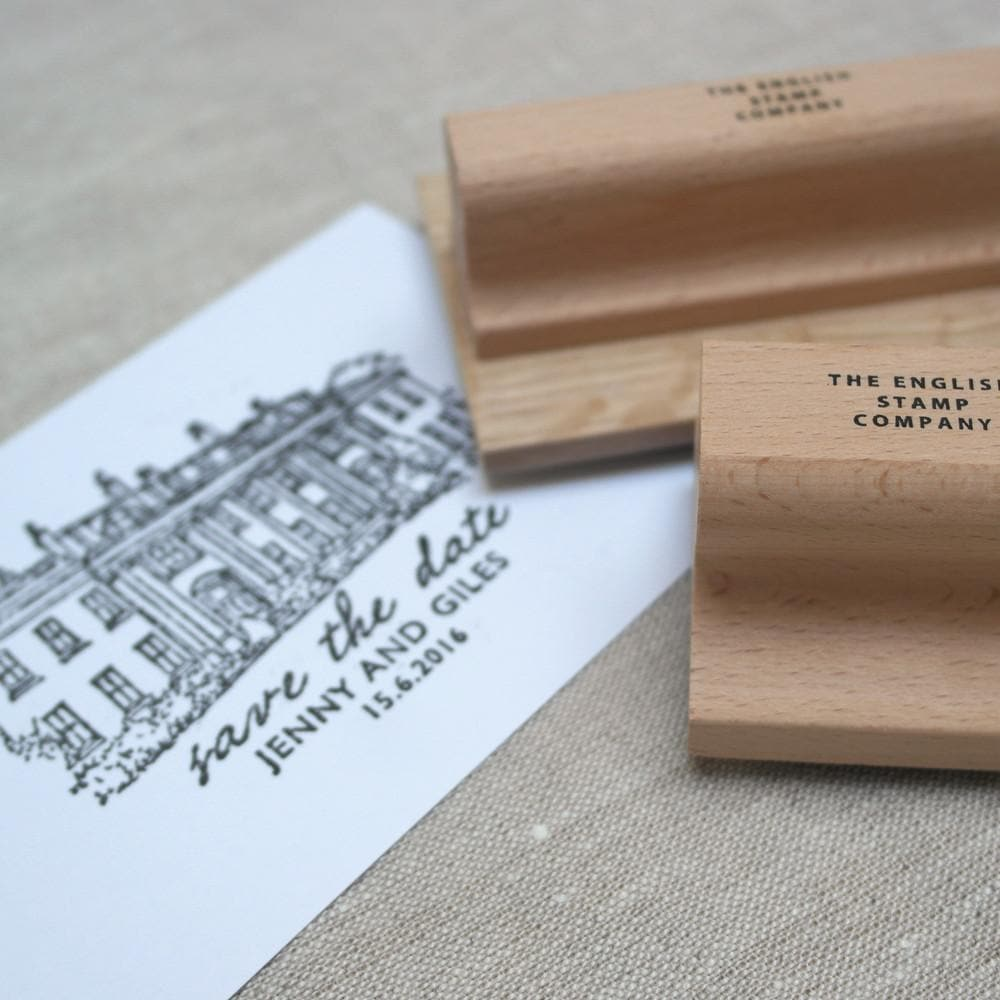 letterfest illustration Personalised Wedding Venue Stamp