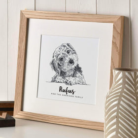 letterfest illustration Pet Portrait Sketch