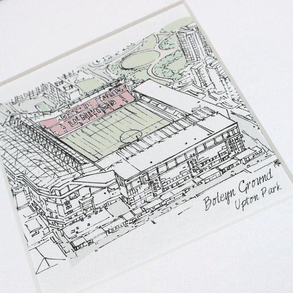 letterfest illustration Sports Stadium Bespoke Illustration