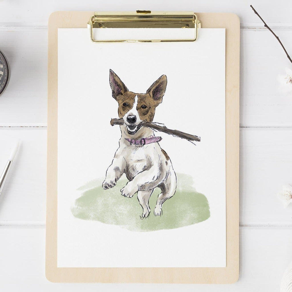 letterfest illustration Watercolour Pet Portrait