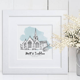 letterfest illustration Wedding Venue Line Drawing