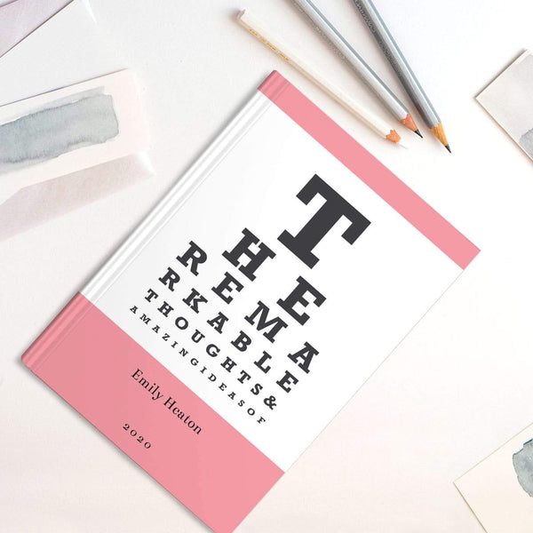 letterfest notebook Aqua Eye Chart