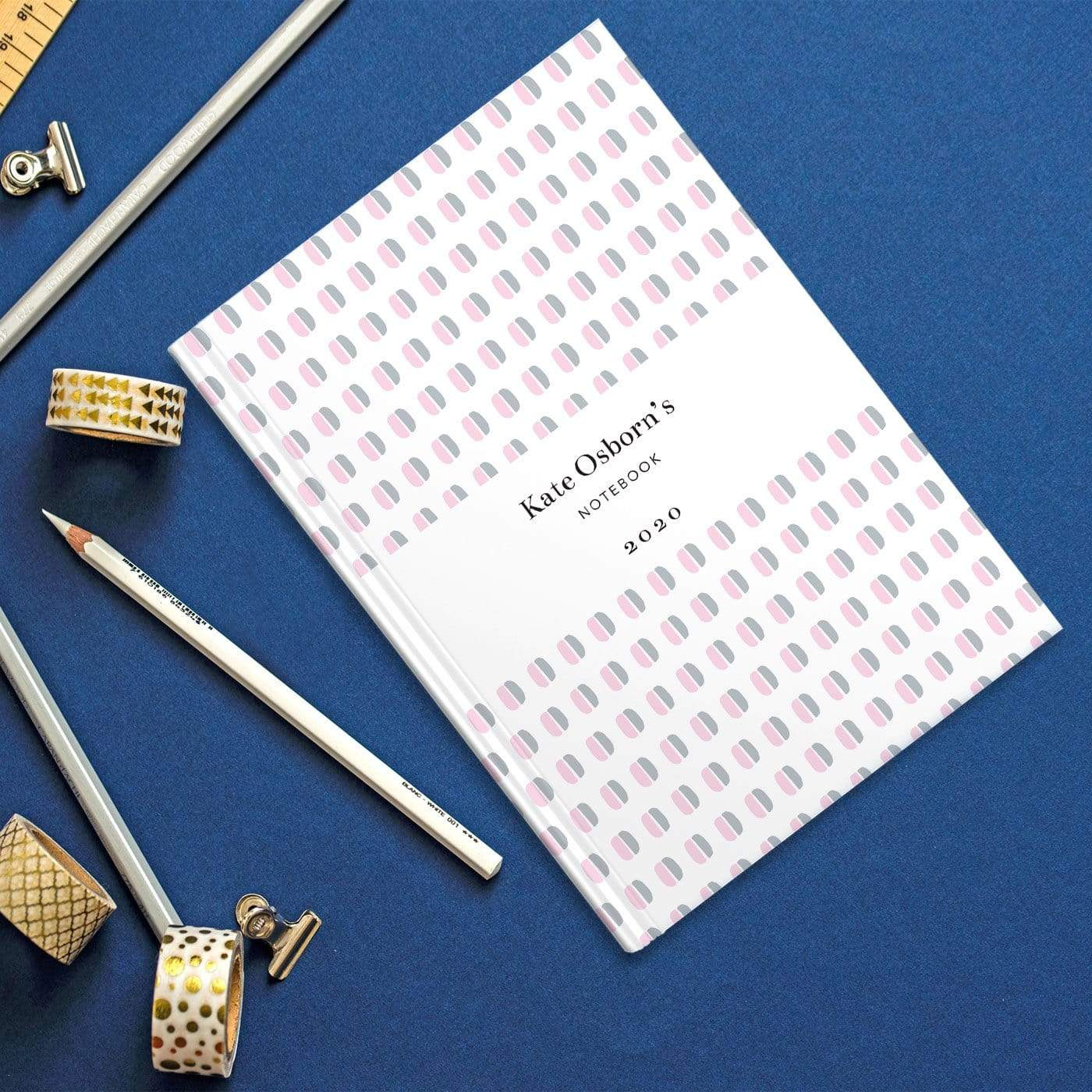 letterfest notebook Blue Dotty