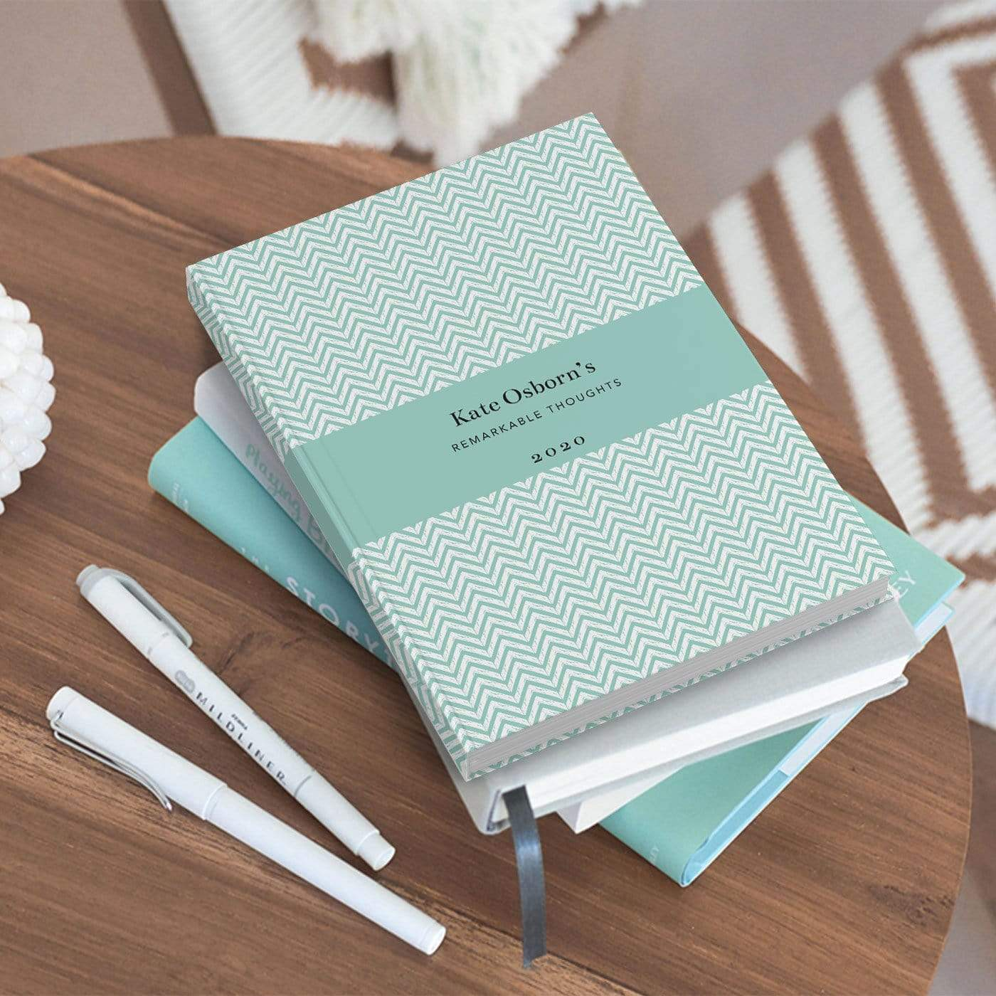 letterfest notebook Chevron Aqua