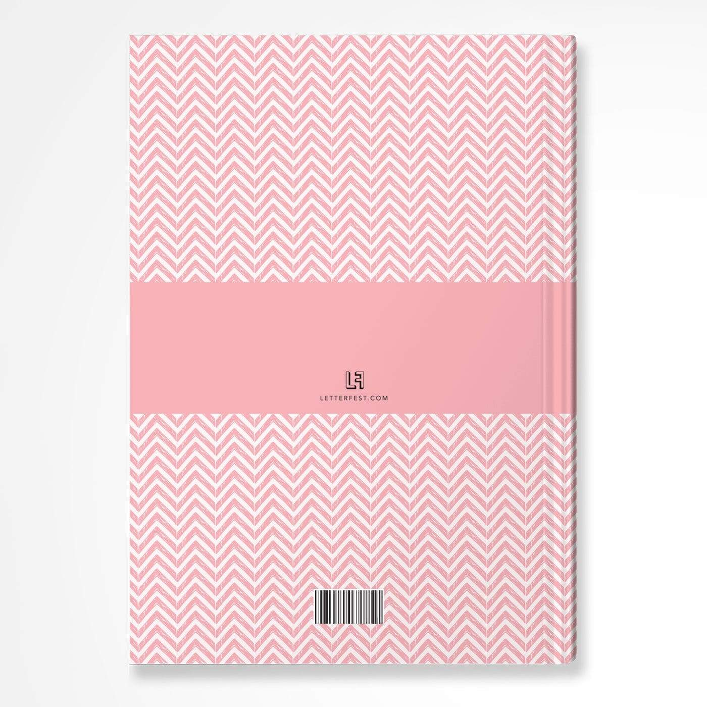 letterfest notebook Chevron Pink