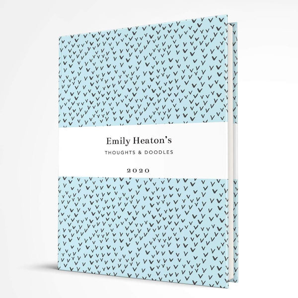 letterfest notebook Hardcover Aqua Little Birds