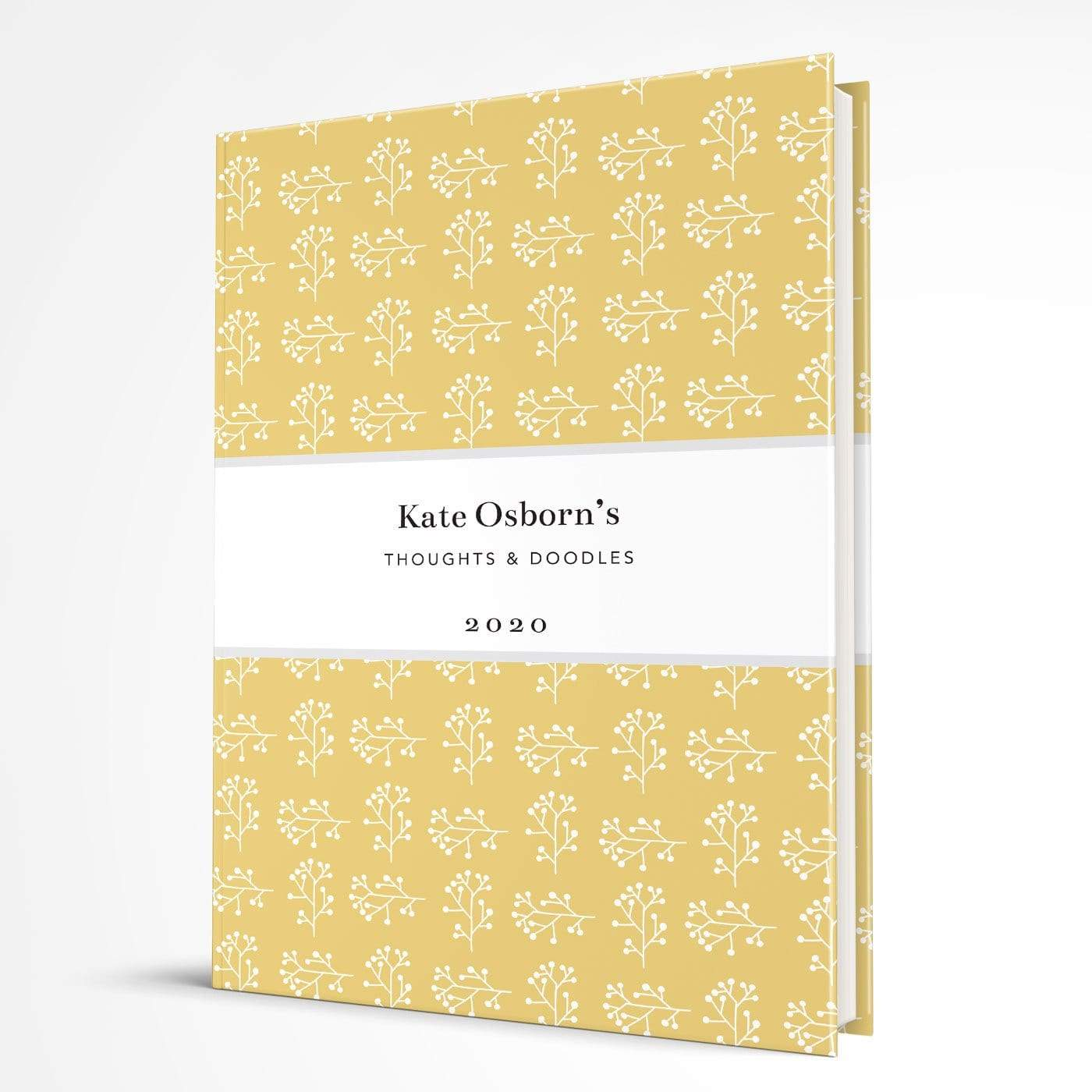 letterfest notebook Hardcover Branch Yellow