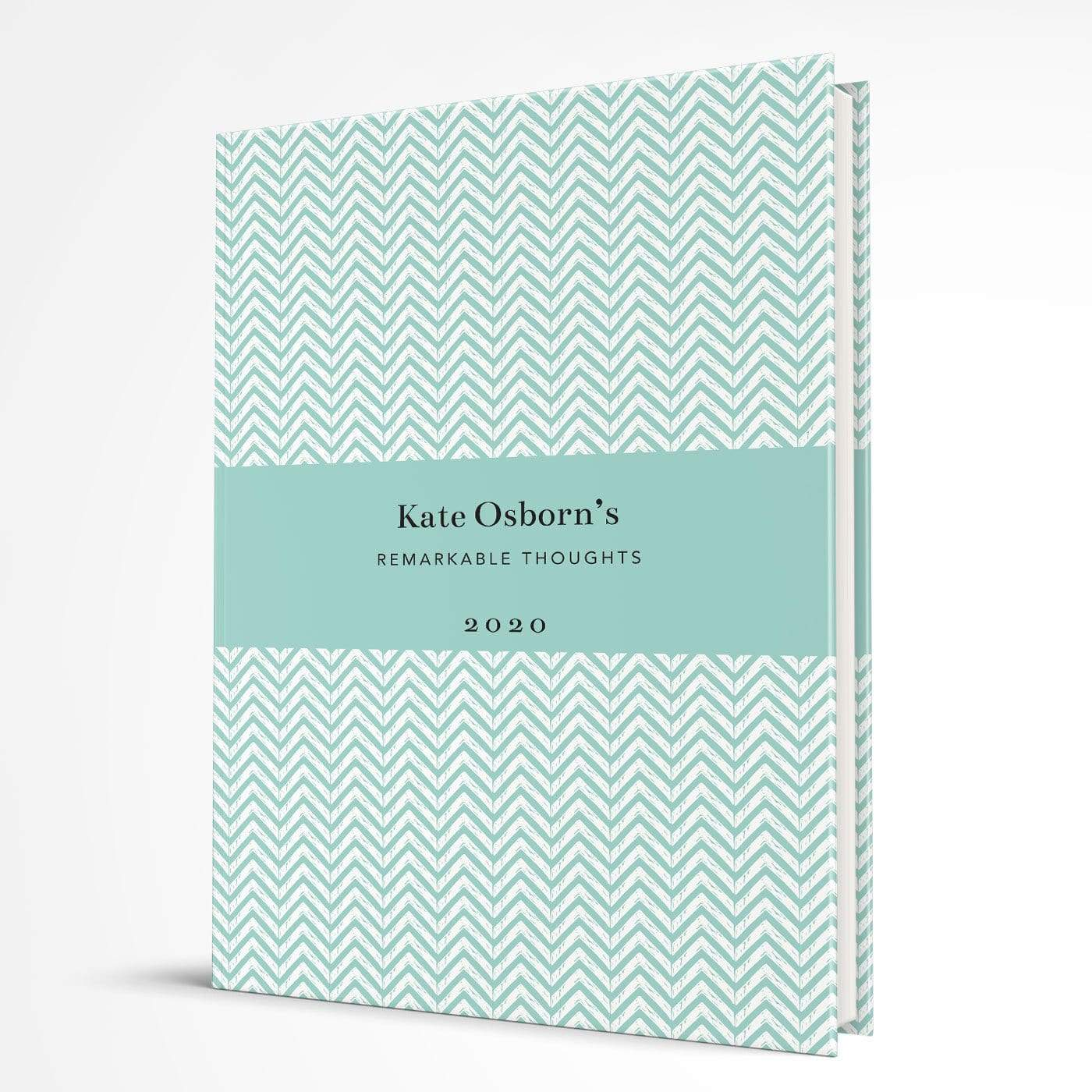 letterfest notebook Hardcover Chevron Aqua