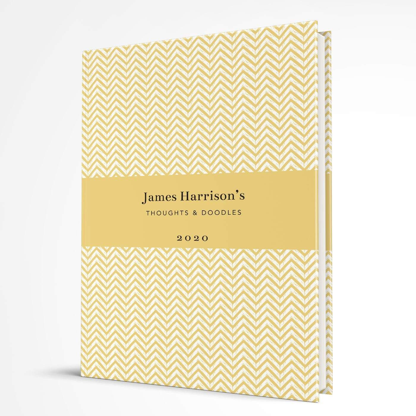 letterfest notebook Hardcover Chevron Yellow