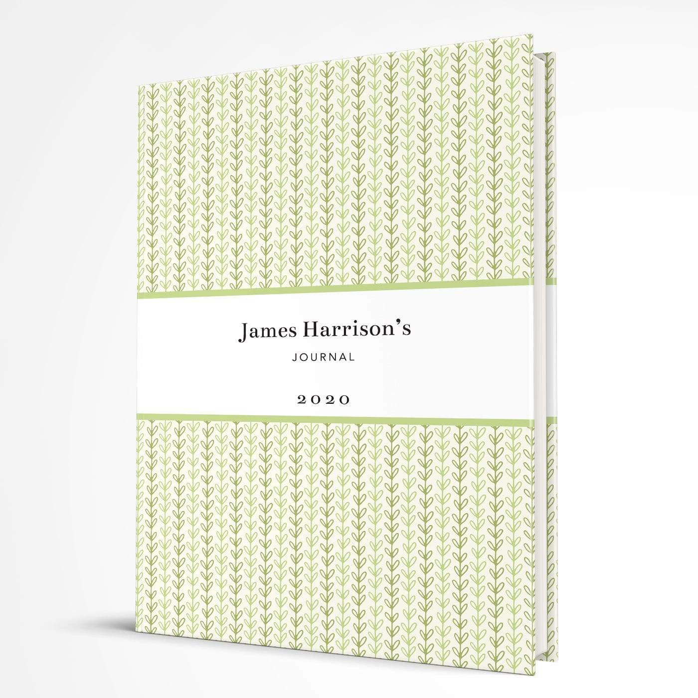 letterfest notebook Hardcover Green Vine