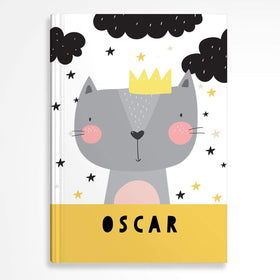 letterfest notebook Hardcover Kids Cat