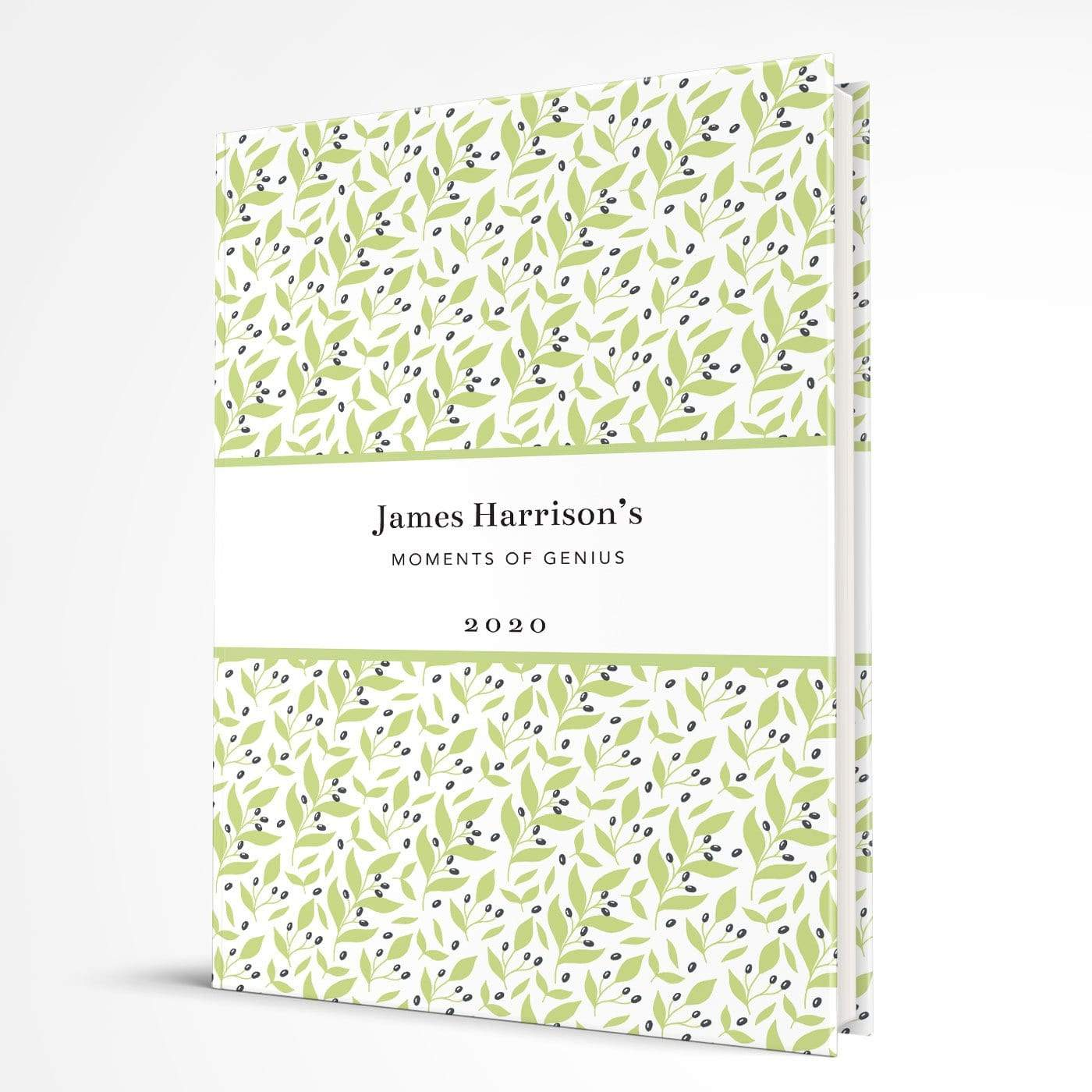 letterfest notebook Hardcover Pretty Leaf