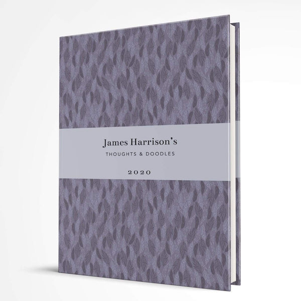 letterfest notebook Hardcover Purple Meadow