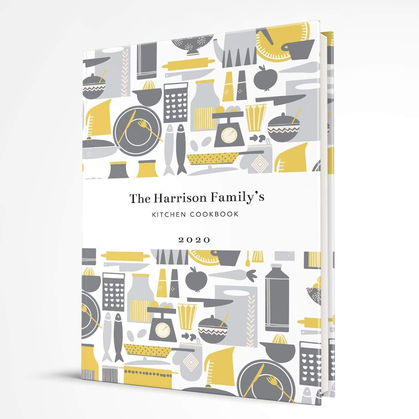 letterfest notebook Hardcover Retro Kitchen Yellow Notebook