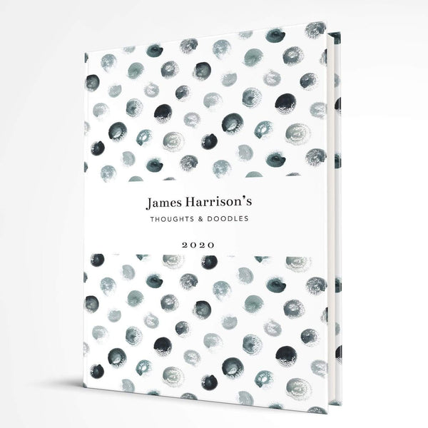 letterfest notebook Hardcover Spotty Black Notebook