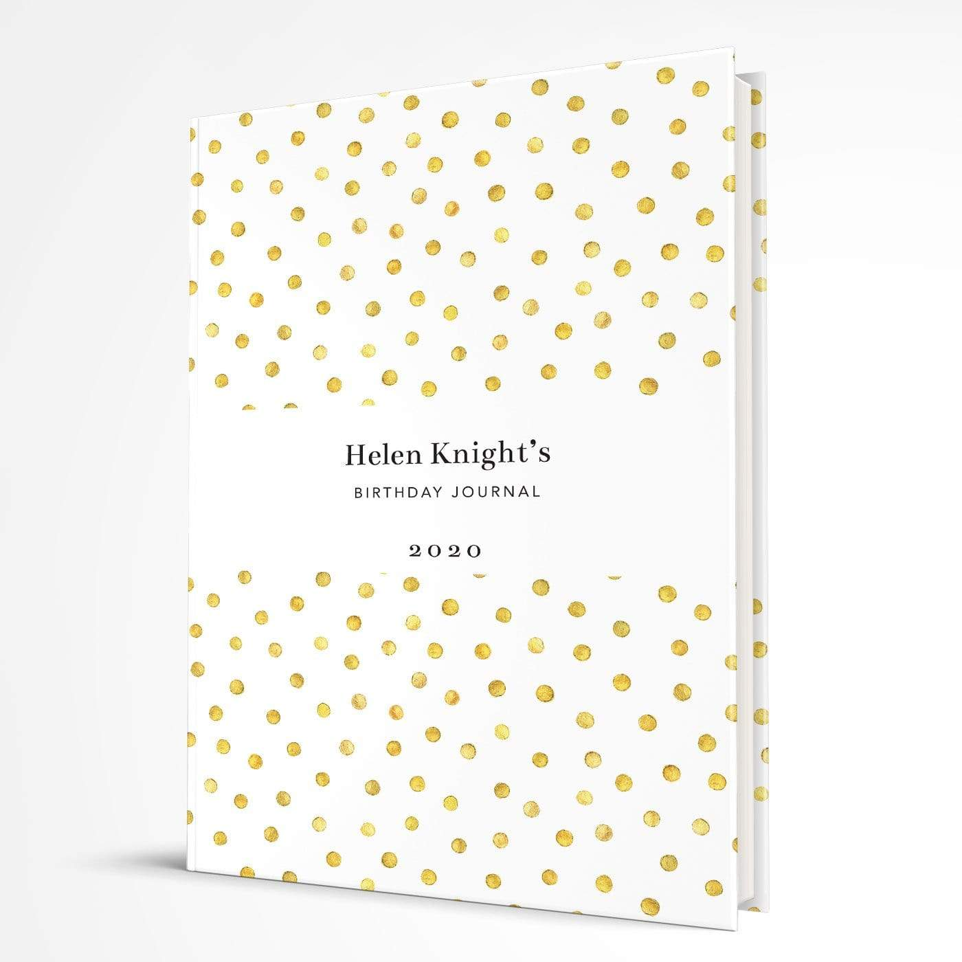 letterfest notebook Hardcover Spotty Gold Notebook