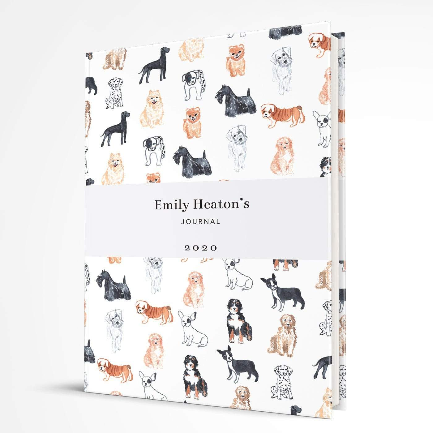 letterfest notebook Hardcover Watercolour Dogs