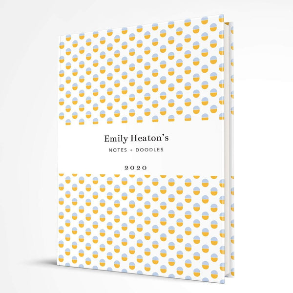 letterfest notebook Hardcover Yellow Dotty