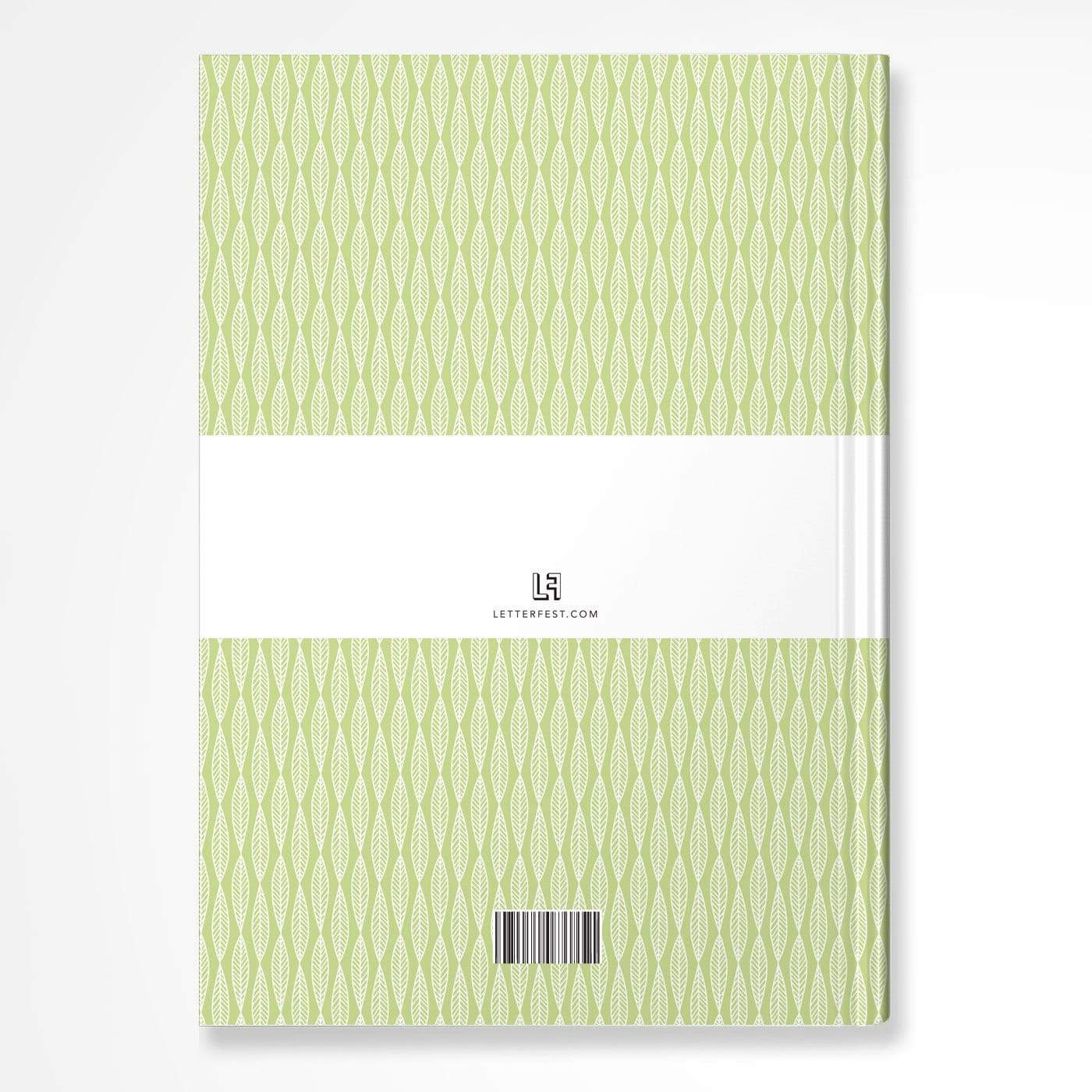 letterfest notebook Lime Leaf