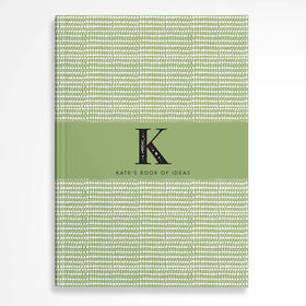 letterfest notebook Monogram Sage