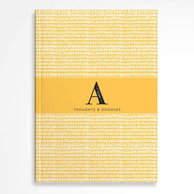letterfest notebook Monogram Yellow