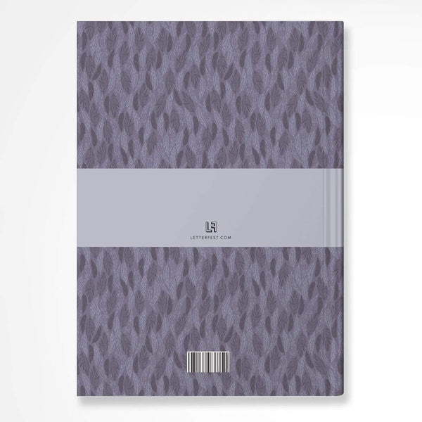 letterfest notebook Purple Meadow